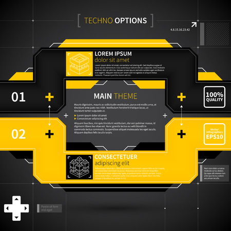 lay-out: Moderne techno layout.