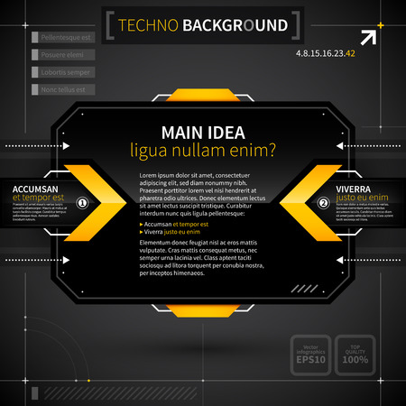 main idea: Modern techno background with main idea and two options.