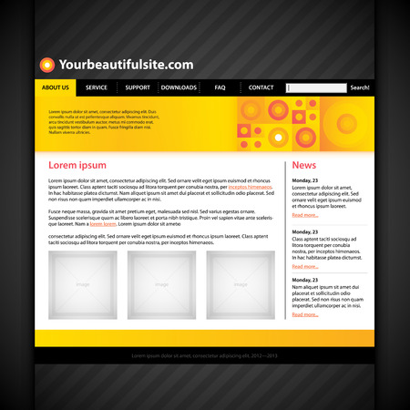 web site: Modern web site layout.