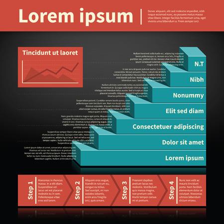 pyramid: Retro styled pyramid chart. Illustration