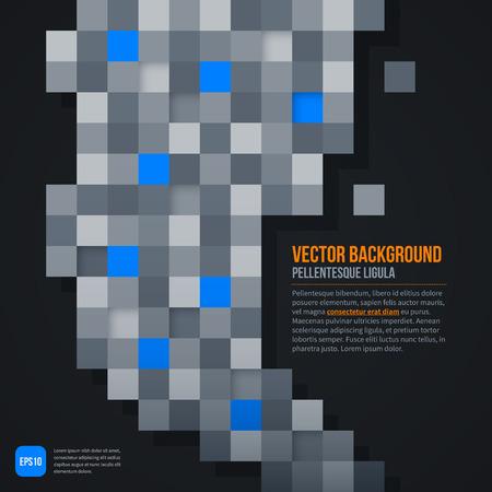 web template: Dark futuristic web template. EPS10