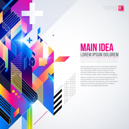 fond de texte: Fond de texte avec �l�ment g�om�trique abstrait et lumi�res incandescentes. Design futuriste d'entreprise, utile pour les pr�sentations, de publicit� et de mise en page web. Template vecteur EPS10.