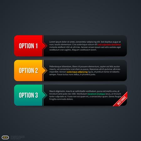 horizontal: Three horizontal banners for web. EPS 10