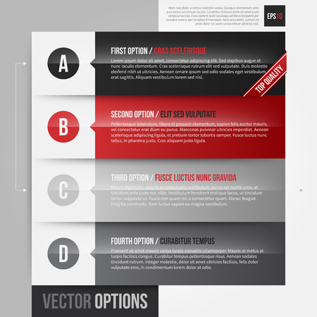 horizontal: Vector layout with 4 horizontal bannersoptions. EPS10.