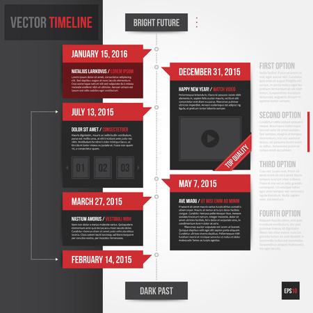 history: Vertical timeline template. EPS10. Illustration