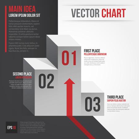Vector layout with sports competition podium. EPS10. Ilustração