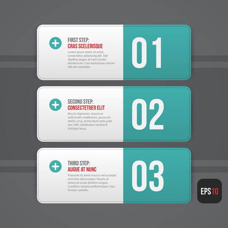 web banner: Three simple horizontal banners on grey background. EPS10.