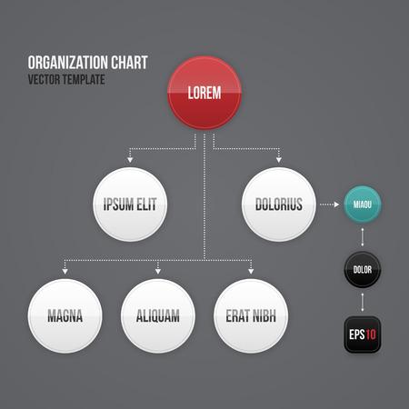 organization: 라운드 요소와 조직도 템플릿입니다. EPS10.