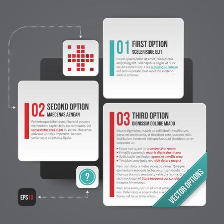 fond de texte: mise en page de l'entreprise moderne avec trois options. EPS10.