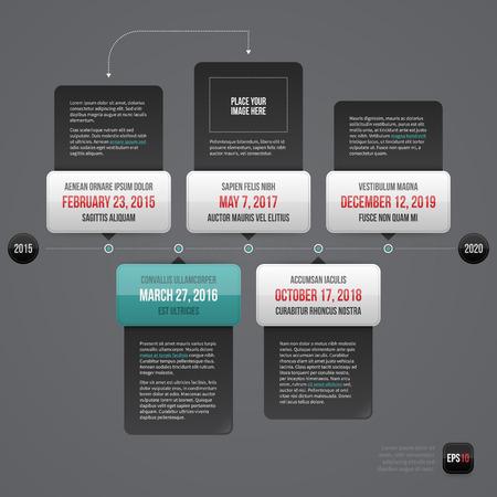 horizontal: Horizontal timeline layout. EPS10.