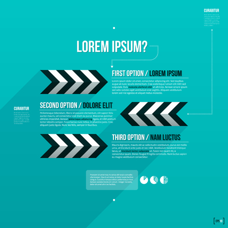 layout: Modern layout with three options.  Illustration