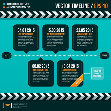 turquise: Modern timeline on turquoise background.