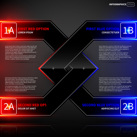 angled: Glowing design layout with two angled intersecting elements. Useful for presentations or advertising.