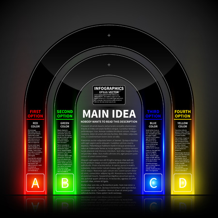 Glossy colorful design template. Can be used for infographics, banners or website layout.