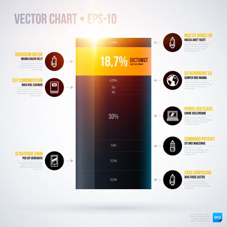 multilevel: Infographics chart template. EPS10 Illustration