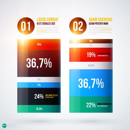 multilevel: Infographics chart template on white background. EPS10
