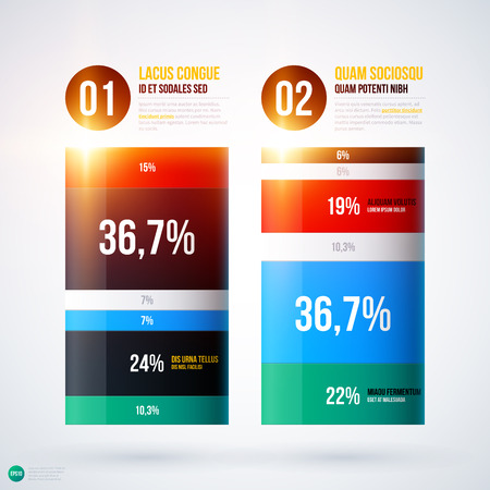 Infographics chart template on white background. EPS10