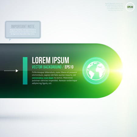 fond de texte: Text background with green glowing light. EPS10 Illustration