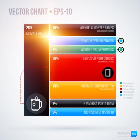 multilevel: Infographics chart template . EPS10