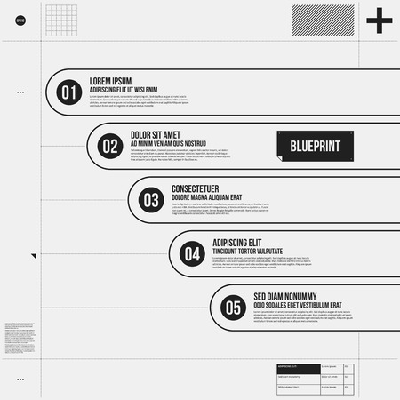 draft: Vector chart template in draft style. EPS10 Illustration