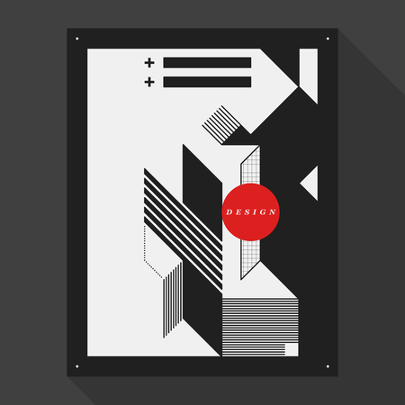 futurism: Postercover design template with abstract geometric elements. Style of modern graffiti.