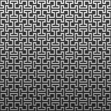 Silverplatinum metallic background with geometric pattern. Elegant luxury style. Illustration