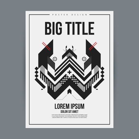 advertizing: Poster design template with abstract geometric element. Useful for book and magazine covers and advertizing.