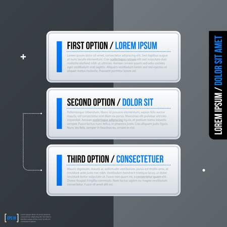 variant: Set of three horizontal web banners on gray background. Modern business template, neutral style. Illustration