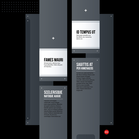 technologic: Futuristic corporate web design template. Useful for presentations or advertising.