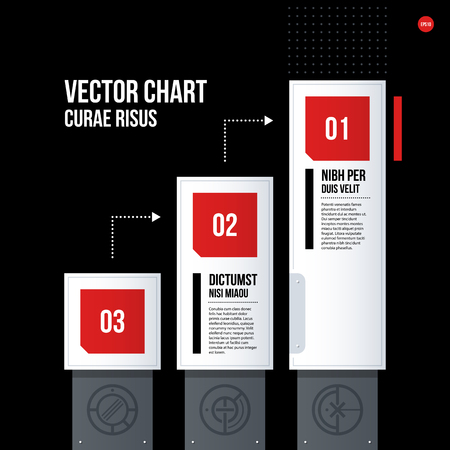 tournament chart: Futuristic corporate chart template on black background. Useful for presentations and marketing media.