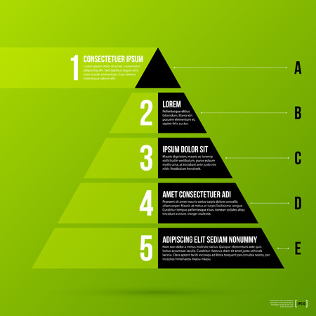 pyramid chart template on fresh green background royalty free