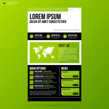web site: Web site template on fresh green background.