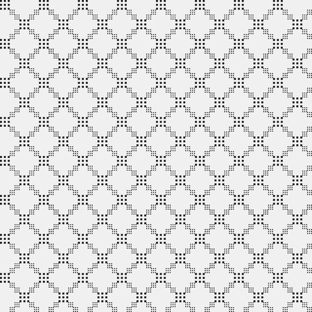 decorative design: Simple pixelated pattern with monochrome geometric shapes. Useful for textile and interior design. Strict neutral style.