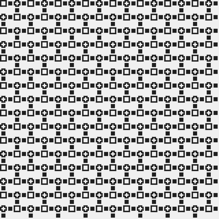 strict: Simple pixelated pattern with monochrome geometric shapes. Useful for textile and interior design. Strict neutral style.
