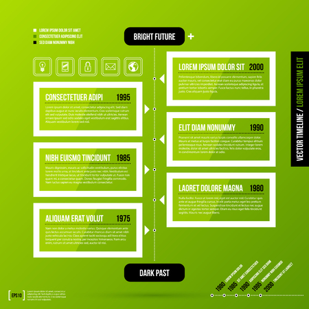 history background: Timeline template on fresh green background. Useful for presentations and history infographics.