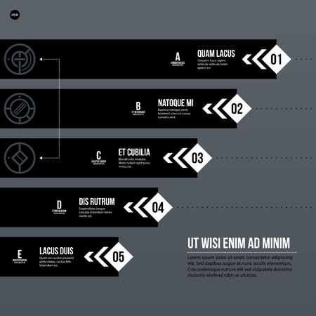 tournament chart: Futuristic corporate chart template on gray background. Useful for presentations and marketing media.