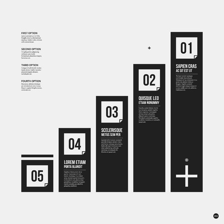 tournament chart: Monochrome vector chart template in strict style. Useful for presentations and web design. Illustration