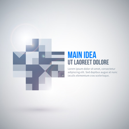 web template: Web template with abstract geometric element.