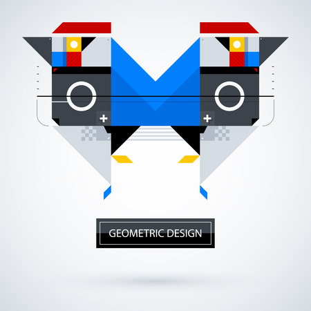 Abstract symmetric design made of geometric shapes. Useful as print, illustration, CD or book cover. Illustration