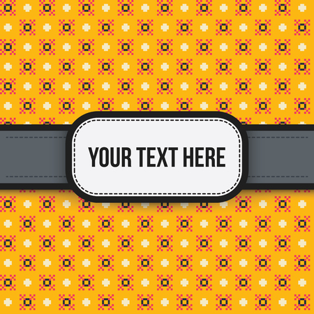 Text background with colorful pixelated pattern. Useful for presentations, advertising and scrapbooking.