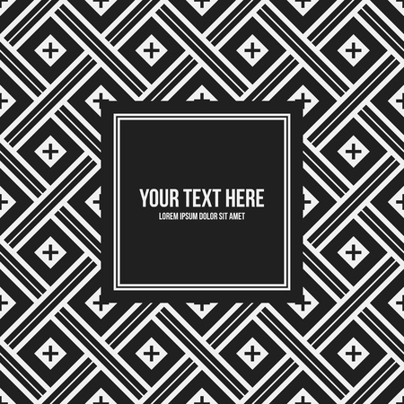 Text frame template with monochrome pattern. Useful for presentations, advertising and web design. Illustration
