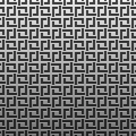 artdeco: Silverplatinum metallic background with geometric pattern. Elegant luxury style. Illustration