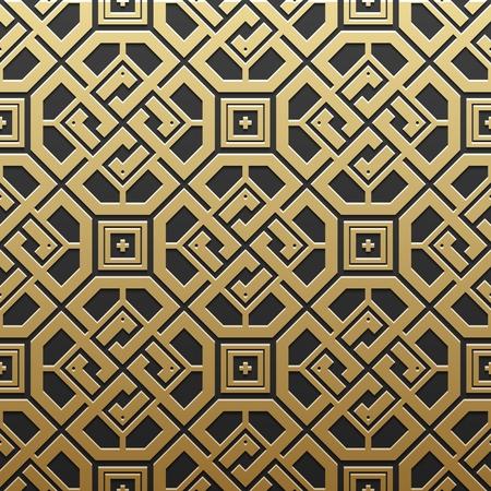 artdeco: Golden metallic background with geometric pattern. Elegant luxury style.