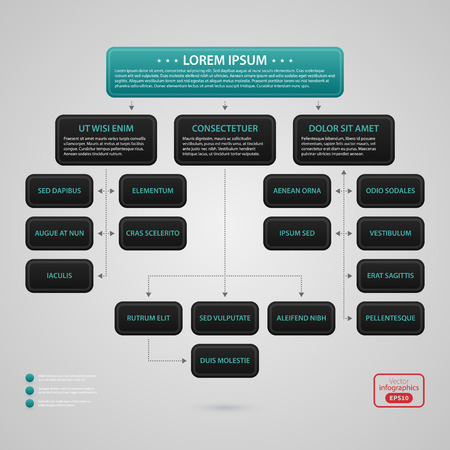 moderno modelo de diseño de páginas web con la carta de organización compleja. estilo empresarial estricta. Útil para los informes anuales, presentaciones y medios de comunicación.