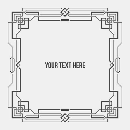borderframe: Art Deco geometric borderframe.