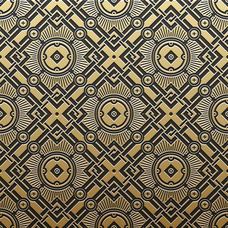 classical arts: Golden metallic background with geometric pattern. Elegant luxury style.