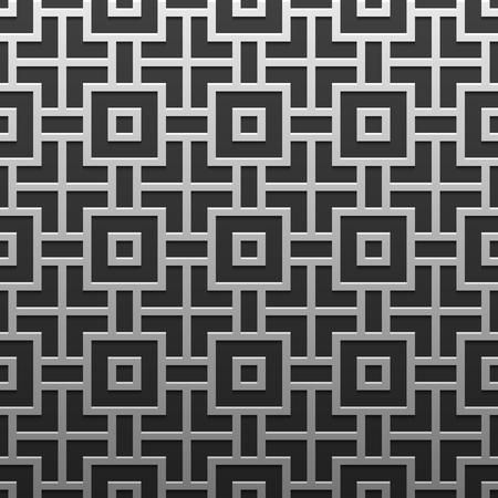 luxe: Silverplatinum metallic background with geometric pattern. Elegant luxury style. Illustration