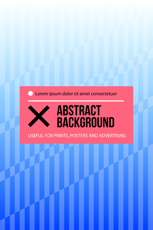 Poster design with geometric lines in modern style. Abstract background template