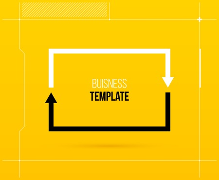 Rectangle cycle template with two segments in elegant techno style.