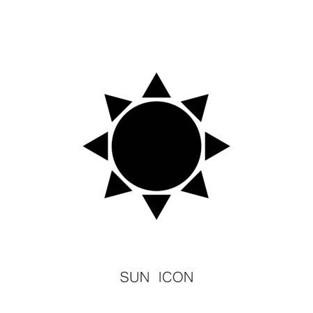 Sun Icon. Black Simple Design Vector Illustration
